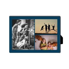 Gallery of Three Desktop Plaque, Rectangle, 5 x 7 inches, Blue