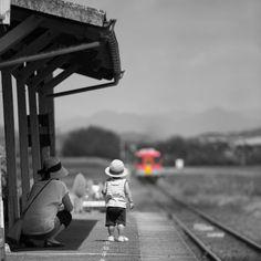 Here comes the train