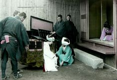 Bride delivery, ca.1900-1910 by Tamamura Kozaburo