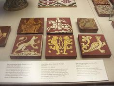 Tiles from the Temple Church on display at the British Museum, London https://www.flickr.com/photos/bolckow/2600631498/in/set-72157626835221265