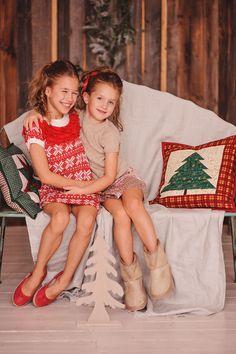 Stories - Новогодняя детская фотосессия - Аня и Света