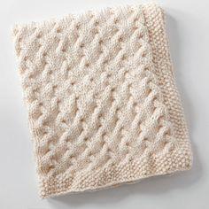 Tiny Ripples - Free Baby Blanket Knitting Pattern