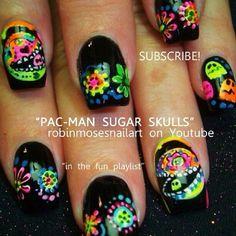 Color neon nails