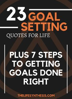 23 of the most overlooked quotes on goals plus my FREE seven steps to making sure you get them done right! #7stepgoalplan #motivation #goals #goalsetting #inspirationalquotes #goalsettingquotes @thelifesynthesis