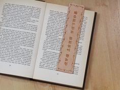 Worlds Best Dad Bookmark  Leather Gift For by TinasLeatherCrafts. Repin To Remember.