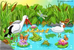 Online lentepuzzels in allerlei moeilijkheidsgraad - Animals in the Pond