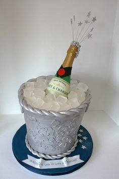 unique Cakes Bottle and Bucket Cake NJ Custom Specialty Cakes