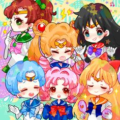 Sailor Senshi Pretty Soldier* by ヨネ子 on pixiv