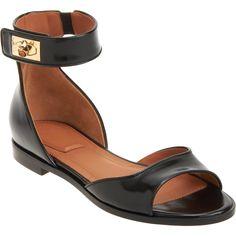 Givenchy Shark Tooth Ankle Strap Sandal at Barneys.com