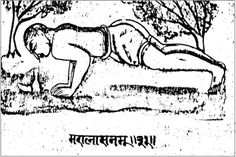 fig 20 āsana No. 31 - Marālāsana or more popularly at the time of writing Hansasana - more recently chatauranga dandasana