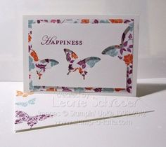 Using butterfly punch with stamp and pattern paper...I like the look!