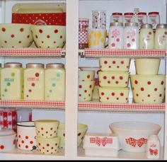 Vintage polka dot.  Oh, and those red plaid bows! <3