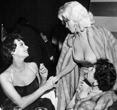 Sophia Loren and Jane Mansfield