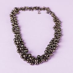 Glam up your days with this shimmering statement necklace.