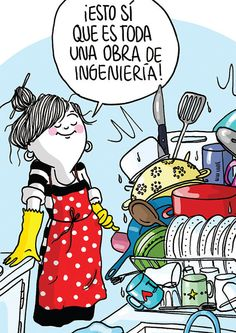 """Diario de una volátil de Agustina Guerrero. ¿Qué utensilios de cocina se acumulan en esta """"obra de ingeniería""""?"""