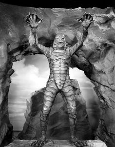 Creature from the Black Lagoon (1954) My aunt took my younger brothers and me to our first scary movie when I was 10. It played at the Regent in Springfield, Ohio, along with the second feature, The Cult of the Cobra. Oh, the memories...