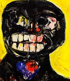 Pawel Kleszczewski: Muttersprache  www.kidsofdada.com/products/muttersprache #painting #art #face #contemporaryart #yellow