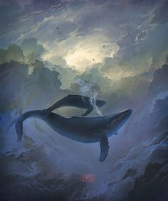 Ver esta foto do Instagram de @ilovefantasyart • 168 curtidas #whales #dreams