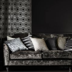 Titanium Collection Satin Fabric, Custom Fabric, Warwick Fabrics, Metallic Colors, Color Inspiration, Printing On Fabric, Love Seat, Upholstery, Room