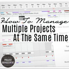 Copy what I do to manage your tasks, resources and time across several projects at once! This article shares loads of tips for staying on…