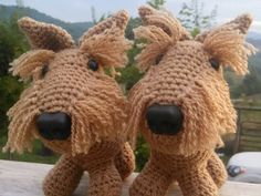 Norwich Terrier Plush (single crocheted animal) by CarrollHillFarm - made to order!