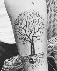 Wallnut tree with ying yang Tattoo (my 5th baby)