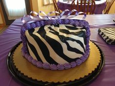 Zebra Birthday Cake From Kroger They Did Such A Great Job