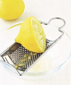 Squeeze lemons, limes, or oranges over a grater to keep seeds out of the juice.