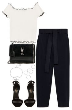 """Untitled #5131"" by theeuropeancloset on Polyvore featuring Yves Saint Laurent and Chupi"