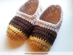 Free Crochet Pattern for Slippers. These make excellent gifts.