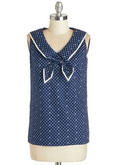 Cruise to Cute Top. Once your ship leaves harbor, youre chartering non-stop charm in this navy blue top. #blueNaN