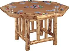 "Invite your buddies over and get your game face on for a fun-filled evening of poker.  Dimensions:  30""H x 48""W."