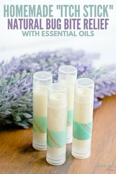 "Homemade ""Itch Stick"": Natural Bug Bite Relief With Essential Oils This easy-to-make homemade ""itch stick"" offers natural bug bite relief with essential oils, coconut oil, and beeswax for soothing relief from insect bites. Essential Oil Uses, Doterra Essential Oils, Bug Bite Essential Oil, Homemade Essential Oils, Essential Oil Anti Itch, Doterra Oil, Yl Oils, Young Living Oils, Young Living Essential Oils"