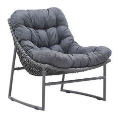 Zuo 703529 Ingonish Beach Chair Grey