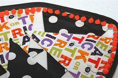 Large Fabric Halloween Bunting - Trick or Treat. $34.00, via Etsy.