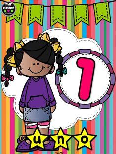 La maestra  Estrella Leyva  nos regala sus creaciones de series y cantidades numéricas Sunday School Decorations, School Clipart, Teacher Binder, Drawing For Kids, First Day Of School, Math Centers, Preschool Activities, Kids And Parenting, Kindergarten