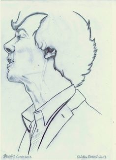 Drawing of young man
