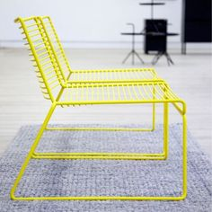 A Contemporary Design Classic with an Airy Metal Structure Resembling a Three-Dimensional Line Drawing - Hay Hee Lounge Chair Design by Hee Welling Lounge Chair Design, Lounge Sofa, Design Furniture, Home Furniture, Neon Furniture, Plywood Furniture, Modern Furniture, Outdoor Furniture, Painted Furniture
