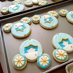 Here are the cookies made with the mouse ears cutter...Cinderella carriages! (Thanks @lilaloa_cookies for the idea!) We used them for prom party favors last night.  by bridget350