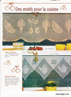 Häkeln & Filethäkeln Gardine Tee Kaffee - crochet curtain - cortinas
