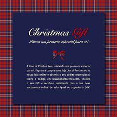 Celebre o Natal, partilhe, disfrute e seja feliz! Para tornar esta época ainda mais especial, reservamos um presente para si! www.lionofporches.com