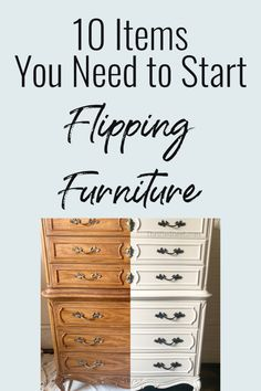 10 items You Need to Start Flipping Furniture These 10 products will get you refinishing furniture in no time. Want to make profit flipping furniture? Here's a beginners list of supplies to get you started chalk painting furniture. Diy Furniture Cheap, Diy Furniture Renovation, Diy Furniture Hacks, Furniture Fix, Chalk Paint Furniture, Refurbished Furniture, Repurposed Furniture, Furniture Projects, Furniture Makeover