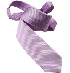 Only one in stock :(  SALE Silk Woven Tie - Basket Weave   - Pale Lilac