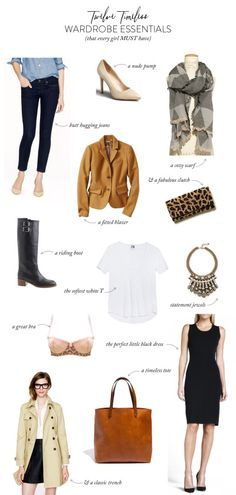 12 timeless wardrobe essentials! http://www.stylemepretty.com/living/2013/11/14/12-timeless-wardrobe-essentials/