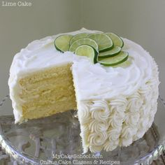 Delicious homemade Lime Cake recipe with Lime Curd and Cream Cheese Frosting! Delicious scratch recipe by MyCakeSchool.com!