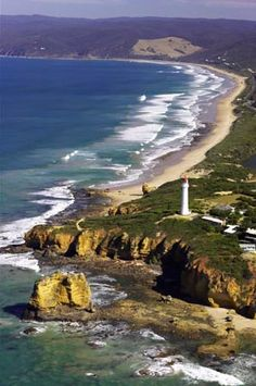 Aireys Inlet and Split Point Lighthouse, Great Ocean Road, Victoria, Australia