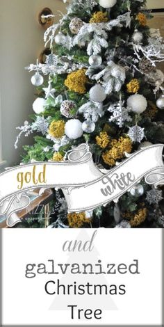 MichaelsMakers Jennifer Rizzo Gold white and galvanized Christmas tree
