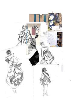 Fashion Sketchbook - fashion sketches; fashion design process; fashion portfolio // Katy Mason
