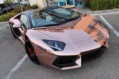 """Rose Gold Chrome | Lamborghini Aventador"