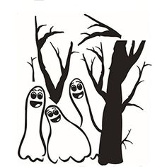 Best-topshop Ghost in Forest Wall Stickers, 16.54 x 18.90 inches / 42 x 48 cm, Halloween Party Removable DIY Decoration for Home Room Door Window *** Want additional info? Click on the image. (This is an affiliate link) #NurseryWallDcor